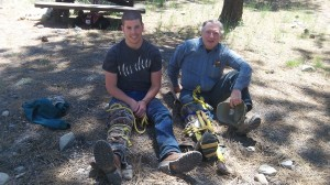 USFS employees splinting