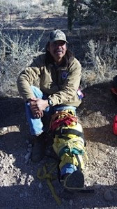 Practicing a splint with Hualapai River Runners and Grand Canyon West during our first aid rescue course