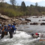 practicing our river rescue skills in coloma california