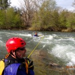 completing a scenario during our beginners river rescue course in coloma california