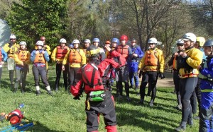 learning the basics with UC Davis, during our river rescue course